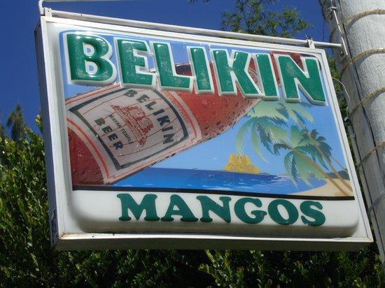 Mango: Sign on street
