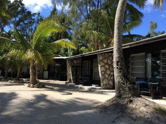 Small Hope Bay Lodge: Step back in time.  Thank goodness this is no Hilton