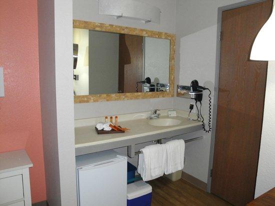 The Monroe Palm Springs : Sink area outside the bathroom