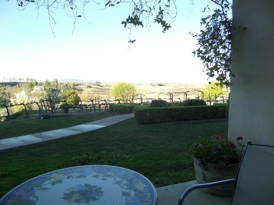 Inn at Churon Winery: Patio view