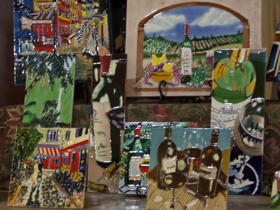 Inn at Churon Winery: Tiles for sale in the tasting room