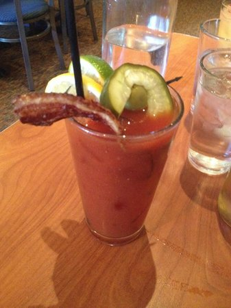 Blue's Egg: Bloody Mary. Vodka infused with garlic, onion, and peppers.