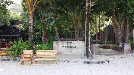 The Tubkaak Krabi Boutique Resort : La plage