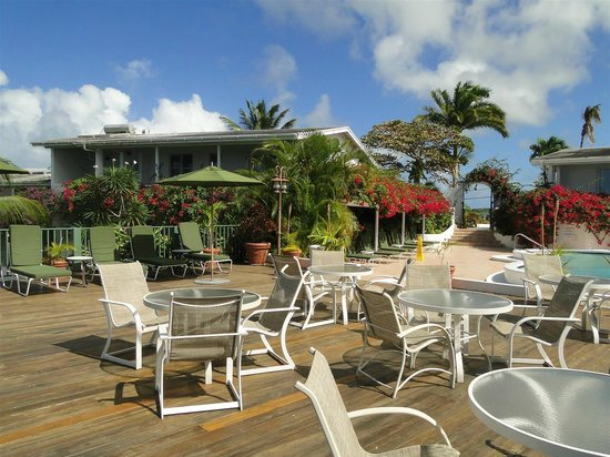 Trade Winds Hotel : Pool and patio for tapas