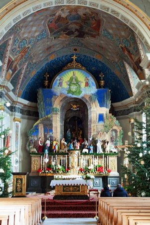 Hotel Tyrol: Inside the parish church Maria Himmelfahrt, which is just metres from the Hotel
