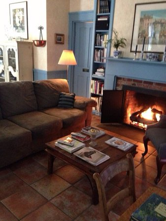 La Farge Perry House: Sitting Room with Gas Fireplace