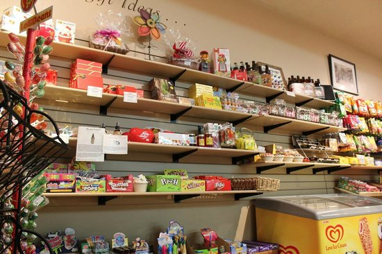 Springdale Candy Company: Shelves of old-time candies and new kid favorites