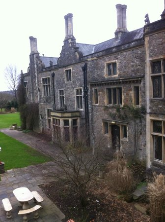 Miskin Manor Hotel and Health Club: view from room 21 of adjoining wing of hotel