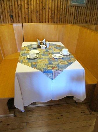 El Pangue Lodge: Table in the diningroom/breakfast