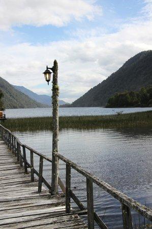 El Pangue Lodge: Risopatron lake