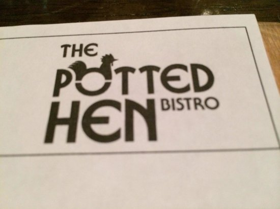 the Potted Hen : Menu cover