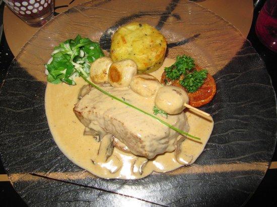 La Plancha Gourmande : Pavé de veau avec garniture de légumes