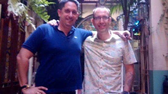 Casa 1932: My partner Darren and Luis