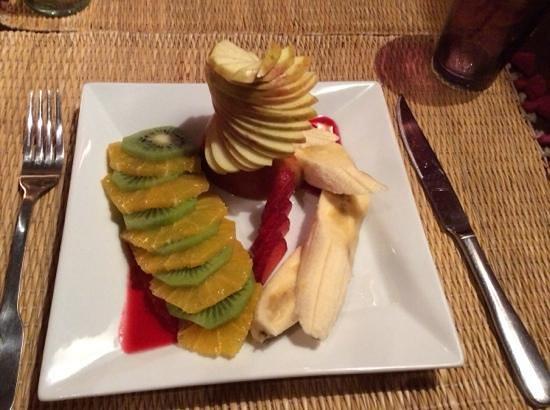 Le Comptoir du Pacha : carpaccio de fruits de saison