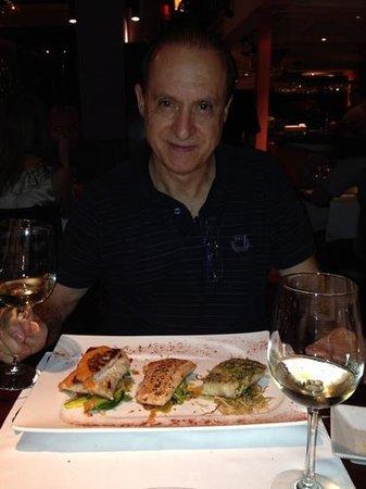 Francis Restaurant: Prato: Tres tipos de peixe