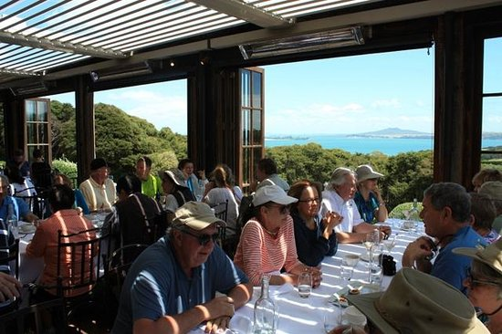 Mudbrick Vineyard & Restaurant: Group dining with a view