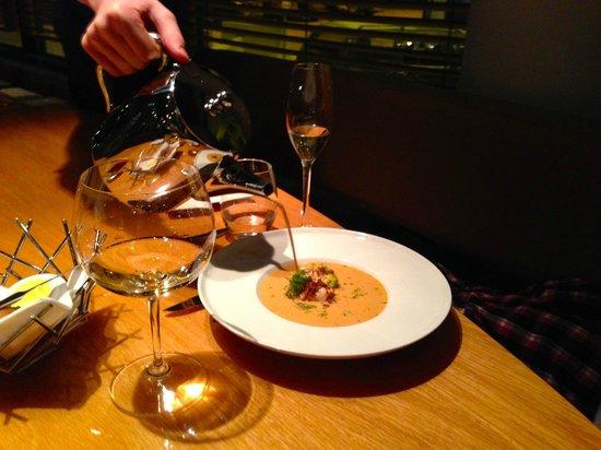 Fiskekompaniet: Lobster bisque soup