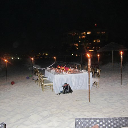 Seven Stars Resort & Spa: Private Dinner on Beach