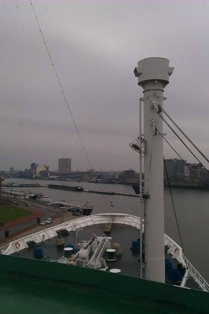 SS Rotterdam: View from Cabin on Sun Deck