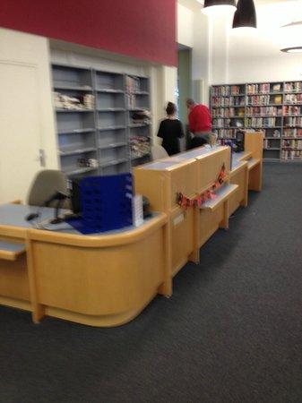 American Library: Circulation desk