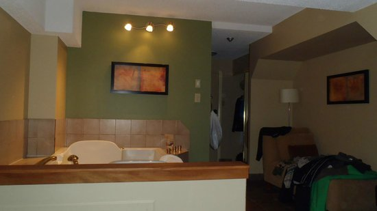 Mountainside Lodge: Bedroom off of kitchen.  Big room with own bathroom