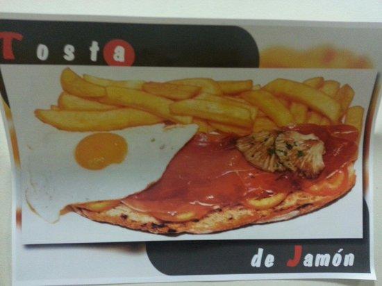 Cafe Bar Tapas 42 : Tosta de jamón
