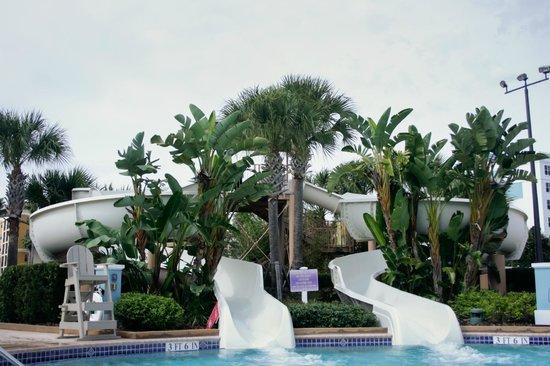 Bluegreen Fountains Resort: Dueling water slides