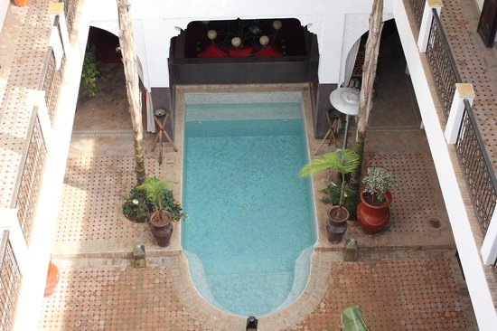 Riad Pachavana: Fourth Floor view looking down