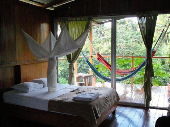 Finca Maresia: View of our room, Bungalow #1