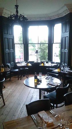 Yann's: Main dining area looking outside