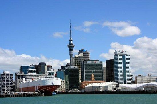 Hauraki Gulf: Central Auckland and Sky Tower