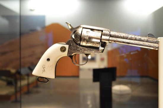 Patton Museum of Cavalry and Armor: ivory handle pistol