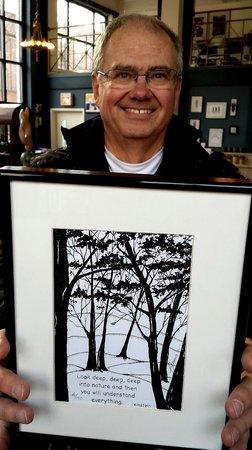 Fiddlehead at Four Corners: John DeAmicis framed lithos
