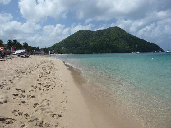 blu St Lucia : la plage de réduit beach