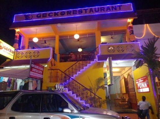 Gecko Cafe: Gecko Restaurant, Mahabalipuram, outside