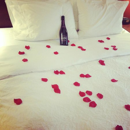 Beachwood, Οχάιο: Valentine's Day Bed I decorated for me and my love