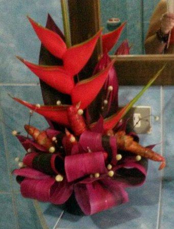 Arenal Springs Resort and Spa: Decoración con vegetación de la zona, buen detalle!!