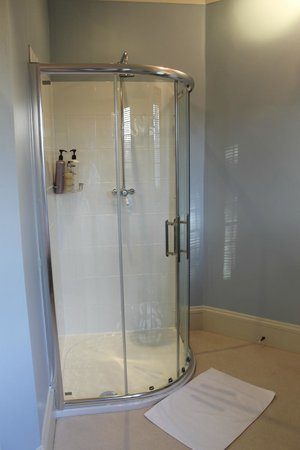 Friars Ford: Blue Room shower/bathroom