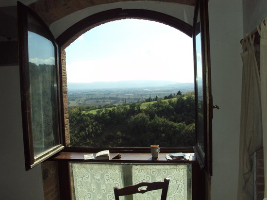Castel d'Arno: View from window