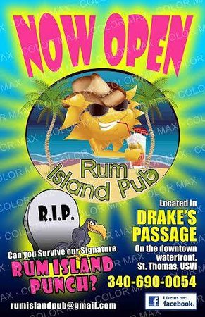 Rum Island Pub : Can you survive our rum punch... the xxRIPxx??