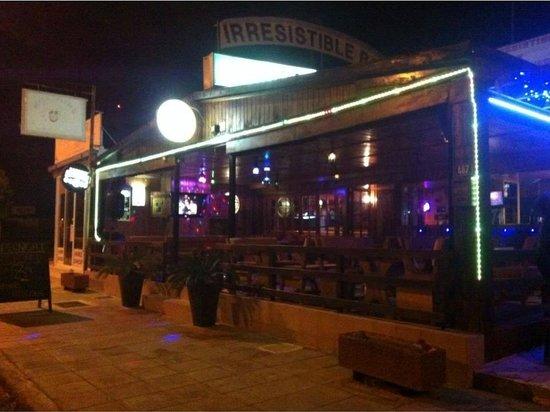 Irresistible Bar: Front of the bar.