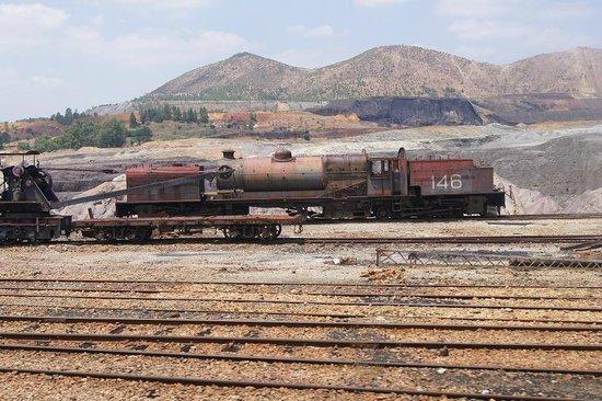 Museo Minero Río Tinto y Tren Minero: Vistas desde tren minero