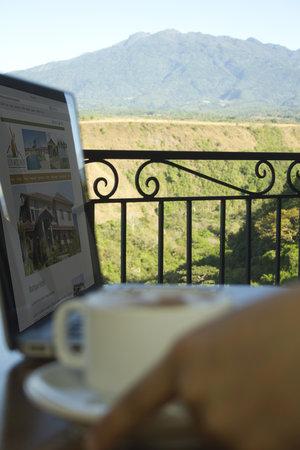Hacienda Los Molinos Boutique Hotel: Trabajar junto al Volcan...