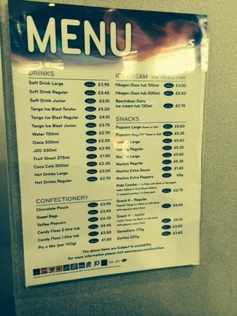 Vue Cinema Food Prices