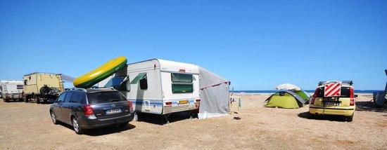 Camping Les Eucalyptus: sistemazione bord de mer