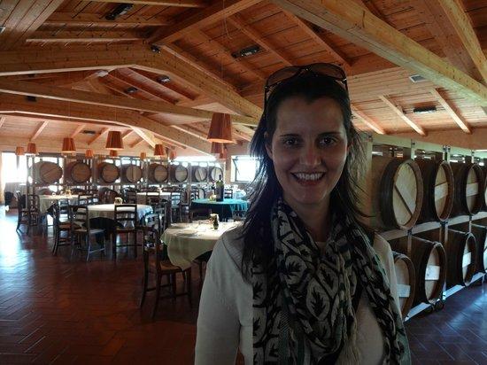 Castello di Verrazzano: Restaurante onde acontecem as degustações: lindo!