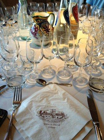 Castello di Verrazzano: Vai começar a degustação!