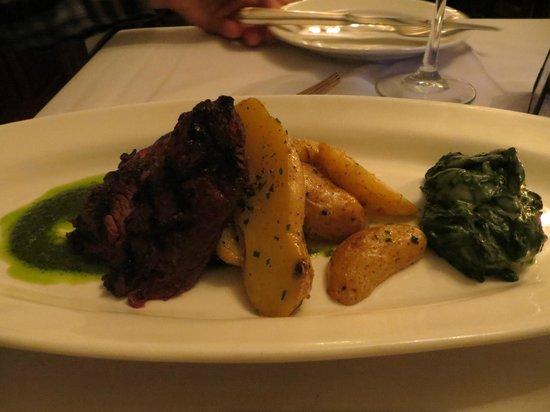 The Blue Rose Inn & Restaurant: My husbands skirt steak