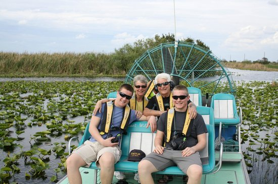 Airboat Wilderness Rides: Our grandson