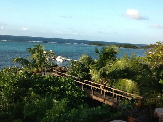 Mayoka Boutique Hotel: View of Sandy Bay from the Mayoka Suite